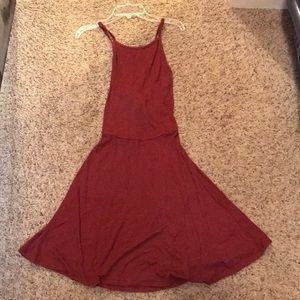 Rust Red Dress